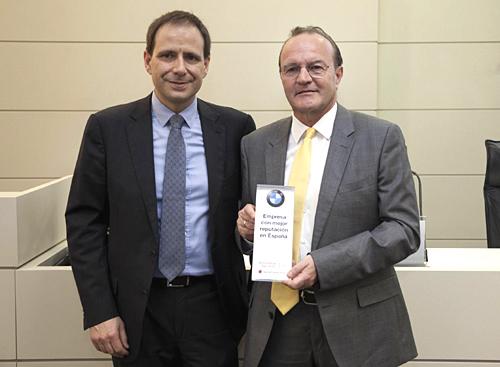 Guenther Seemann BMW premio Reputation Institute