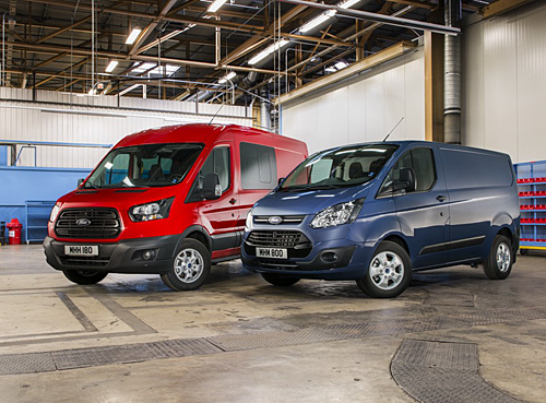 Ford Transit con motores Ecoblue